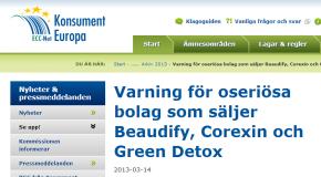 Varning för oseriösa bolag som säljer Beaudify, Corexin och Green Detox – Konsument Europa
