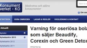 Varning för oseriösa bolag som säljer Beaudify, Corexin och Green Detox – Konsumentverket