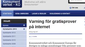 Varning för gratisprover på internet – Konsumentverket